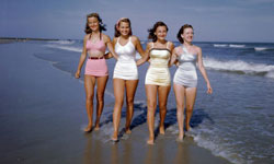 5736a2c34bc Beach styles in 1949 were glamorous but structured -- a middle ground  between turn-