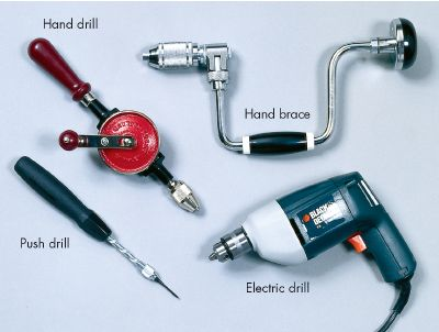 Hand and power drills are vital home-repair tools.