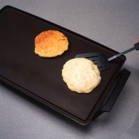 Flip pancakes for even cooking on both sides when making quick breads.