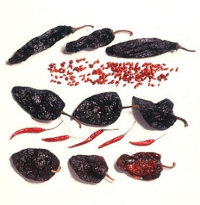 Pasilla, Pequin, Mulato, De arbol, and Ancho chilies are used in Mexican cooking.