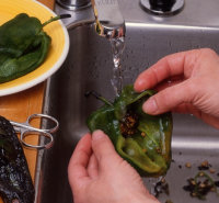Rinse the chilies and drain well when preparing chili peppers for Mexican cooking.
