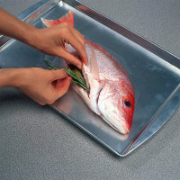 Your stuffing mixture will go directly into the cavity of the fish.