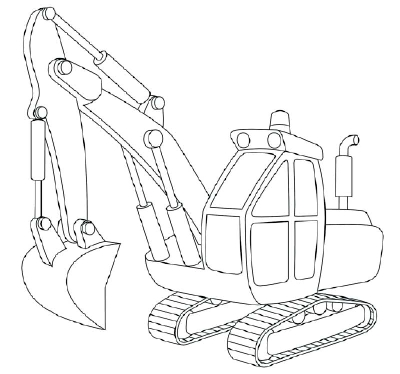 11 Finish The Drawing How To Draw Excavators In 11