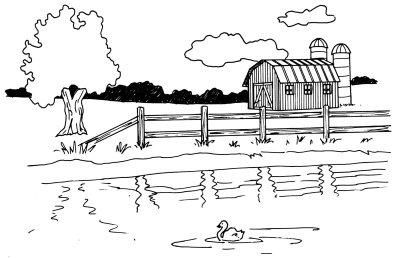 How To Draw A Barn And Pond Howstuffworks