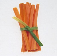 Garnish with Vegetable Ties.