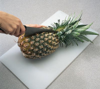 Cut pineapple in half when making pineapple boats.