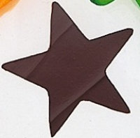 Garnish with Chocolate Cutouts, like this chocolate star.
