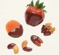 Garnish with Chocolate-Dipped Fruits and Nuts.