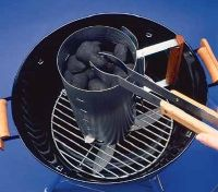 Chimney starts are an easy way to start a fire on the grill.