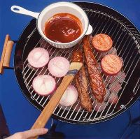 Barbecue sauce is a delicious basting sauce for grilling.