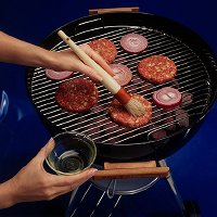 To grill lamb burgers, brush patties with oil to prevent sticking to grid.
