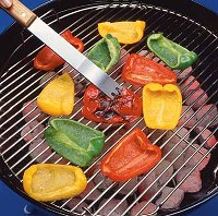 When grilling peppers, don't be afraid to let the skin of the pepper get really charred.