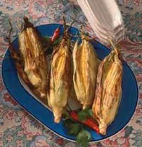 Grilled corn looks as good as it tastes.