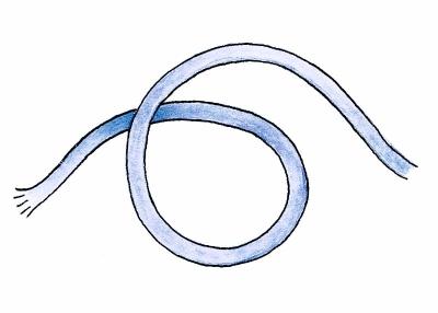 Fig. 1a. Making a slipknot 1