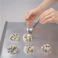 For smaller cookies, space the dough about 2 inches apart, for larger cookies, 3 inches.