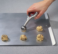 An ice cream scoop can help you make even, uniform cookies.