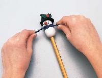 Snow Buddy Pencil Topper