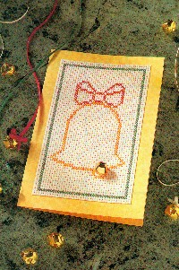 Cross-Stitch-Look Christmas Card