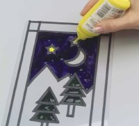 Use sunny yellow to color the stars.