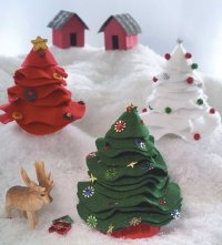 Here is a finished Celebration of Christmas Trees.