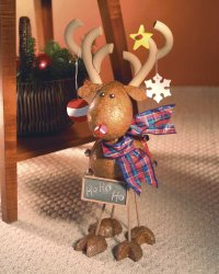 Here is a finished Jingle the Red-Nose Reindeer.