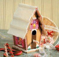 Here is a completed Sweetest Birdhouse.