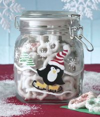 Slip, Slide, and Skate Penguin Jar are easy to make Christmas crafts that are great Christmas gifts.