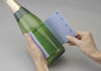 Wrap foam around the bottle.