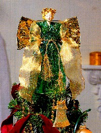 Victorian Angel Tree Topper makes a beautiful Christmas decoration.