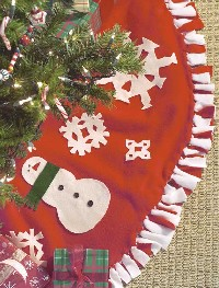 Fuzzy Fleece Tree Skirt