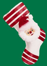 Santa Claus Stocking is a great Christmas craft that kids can do themselves.