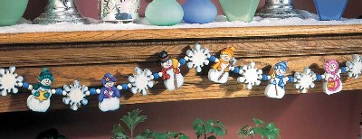 A Lovely Assortment of Snow People Garland