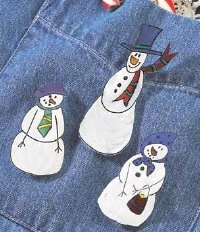 A Gaggle of Snow People Pins. These Christmas jewelry pins make great Christmas gifts.