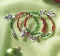 Angelic Charm Bracelet is an angel-themed bracelet. This Christmas jewelry makes a great Christmas gift.