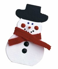 Nip in the Air Snowman Pin is a Christmas gift that you can make. Give Christmas jewelry to your friends.