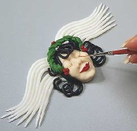Angelic Clay Ornaments