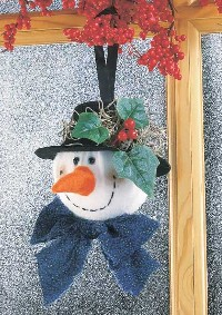 Jolly Holly Snowman Ornament