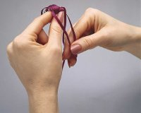 Tie ribbon in a knot.
