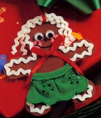 The easy-to-make Gingerbread Kid Ornament.