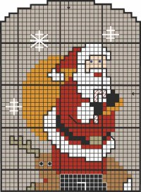 Here is the pattern for the Cross-Stitch Christmas ornament.