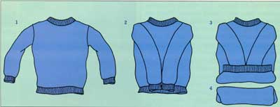 How to Roll a Sweater