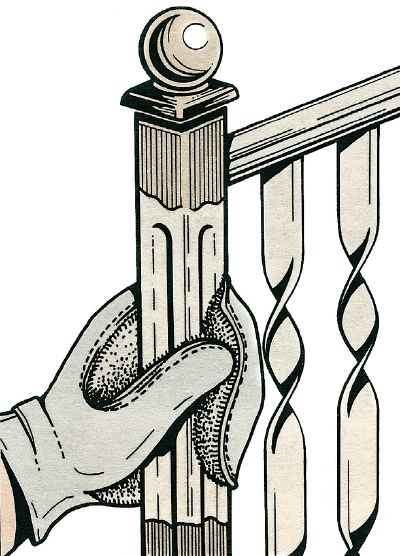 For railing and ornamental metal work, use a lamb's wool mitten applicator instead of a trim brush.