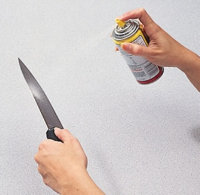 Spray the blade of your knife with nonstick cooking spry to ensure an even cut.