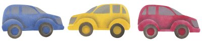 The cars can be stenciled in any color and any direction.