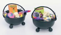 Give kids these cauldron goodie bags at a Halloween party.