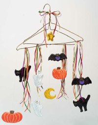 Create a Halloween mobile for your kids to enjoy all month long.