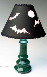 Create a Halloween-themed lampshade.