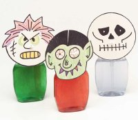 These scary soap dispensers are an easy and fun Halloween craft.