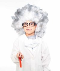 This Halloween wig is perfect for your favorite mad scientist when creating a Halloween party.