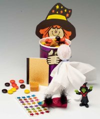 Send kids home with a ghostly goodie bag when throwing a Halloween party.
